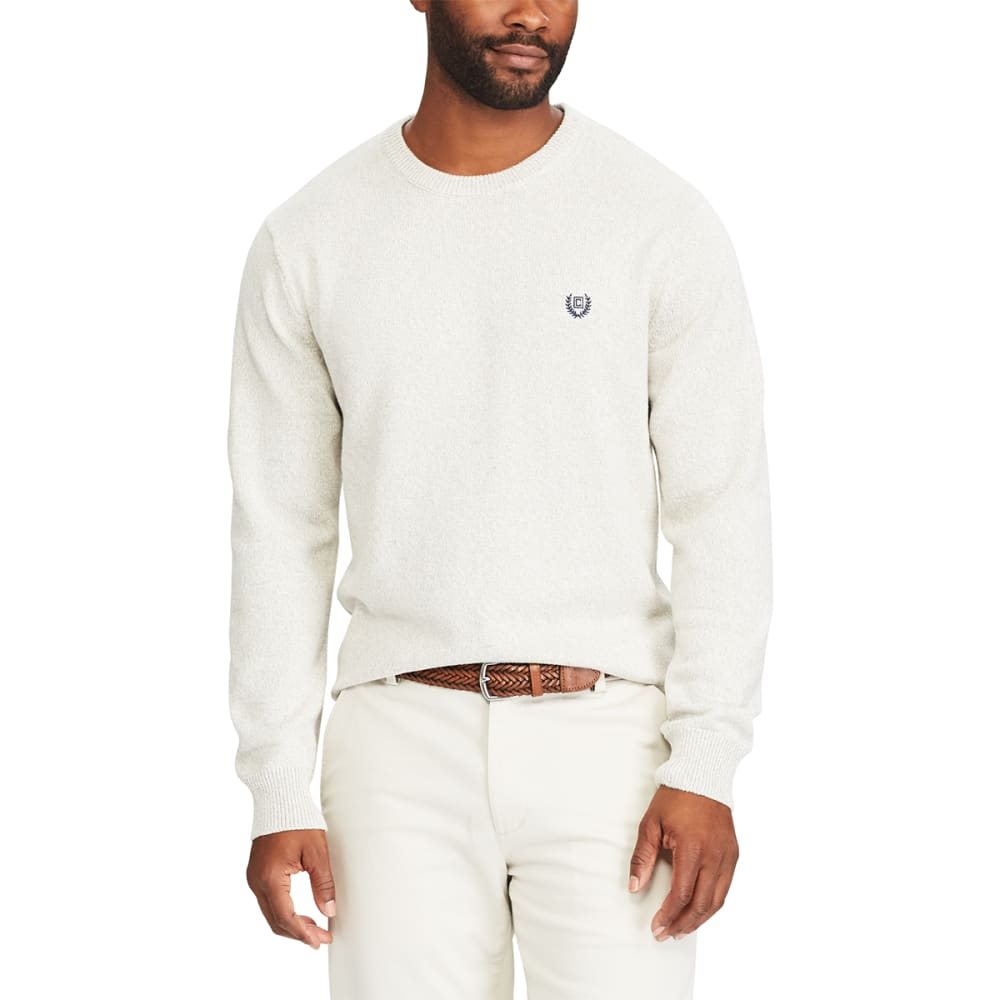 Chaps Men's Pre-Twist Crewneck Long-Sleeve Sweater - White, M