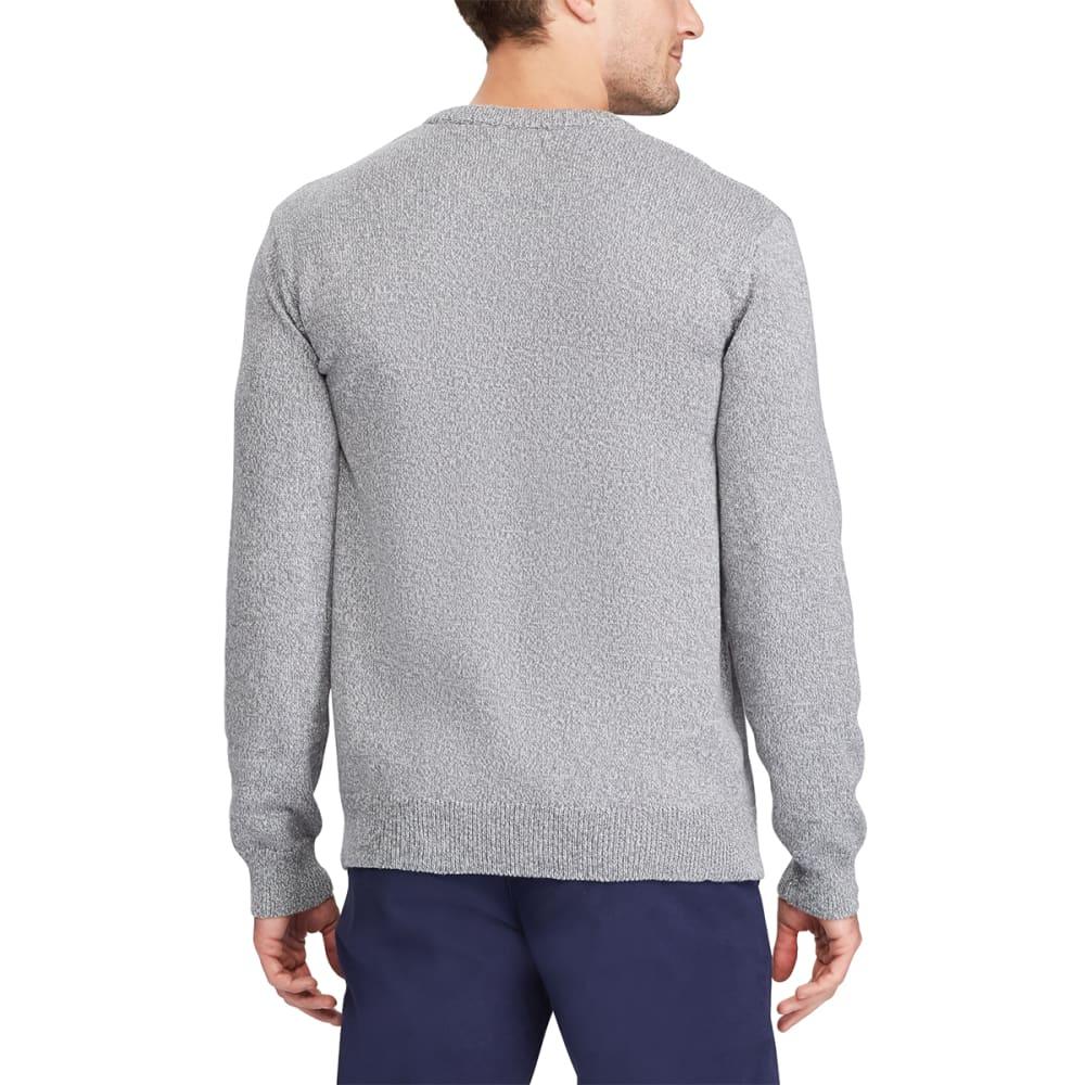 CHAPS Men's Pre-Twist Crewneck Long-Sleeve Sweater - PEBBLE TWIST-003