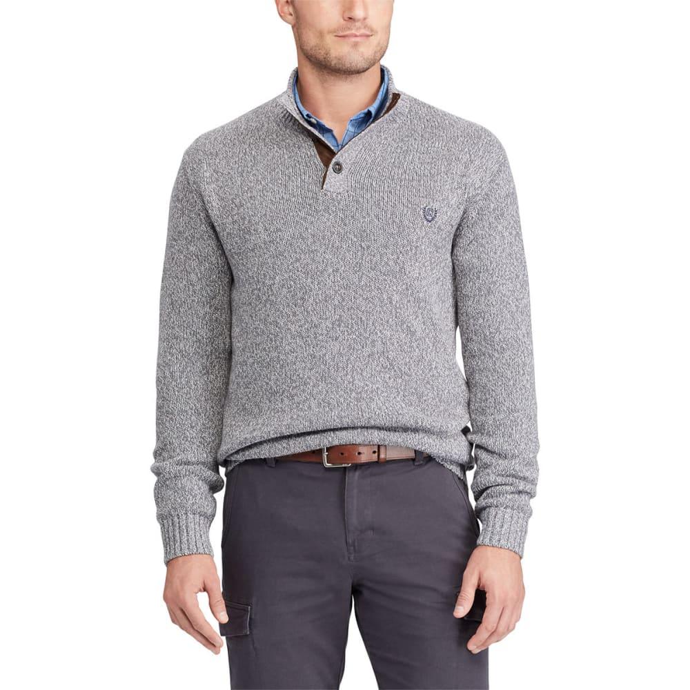 CHAPS Men's Pre-Twist Button-Mock Long-Sleeve Sweater M