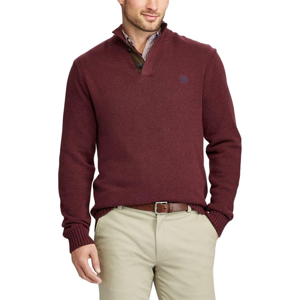 CHAPS Men's Pre-Twist Button-Mock Long-Sleeve Sweater - SARANAC TWIST-003