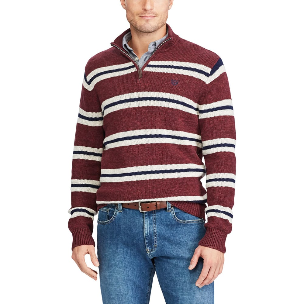 CHAPS Men's Twist 1/4 Zip Long-Sleeve Sweater - SARANAC TWIST-002