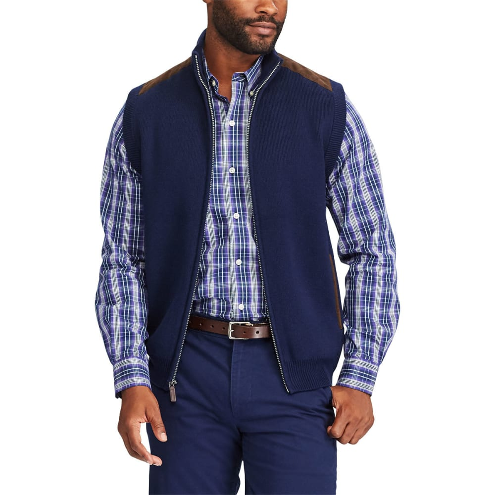 Chaps Men's Sweater Vest - Blue, M