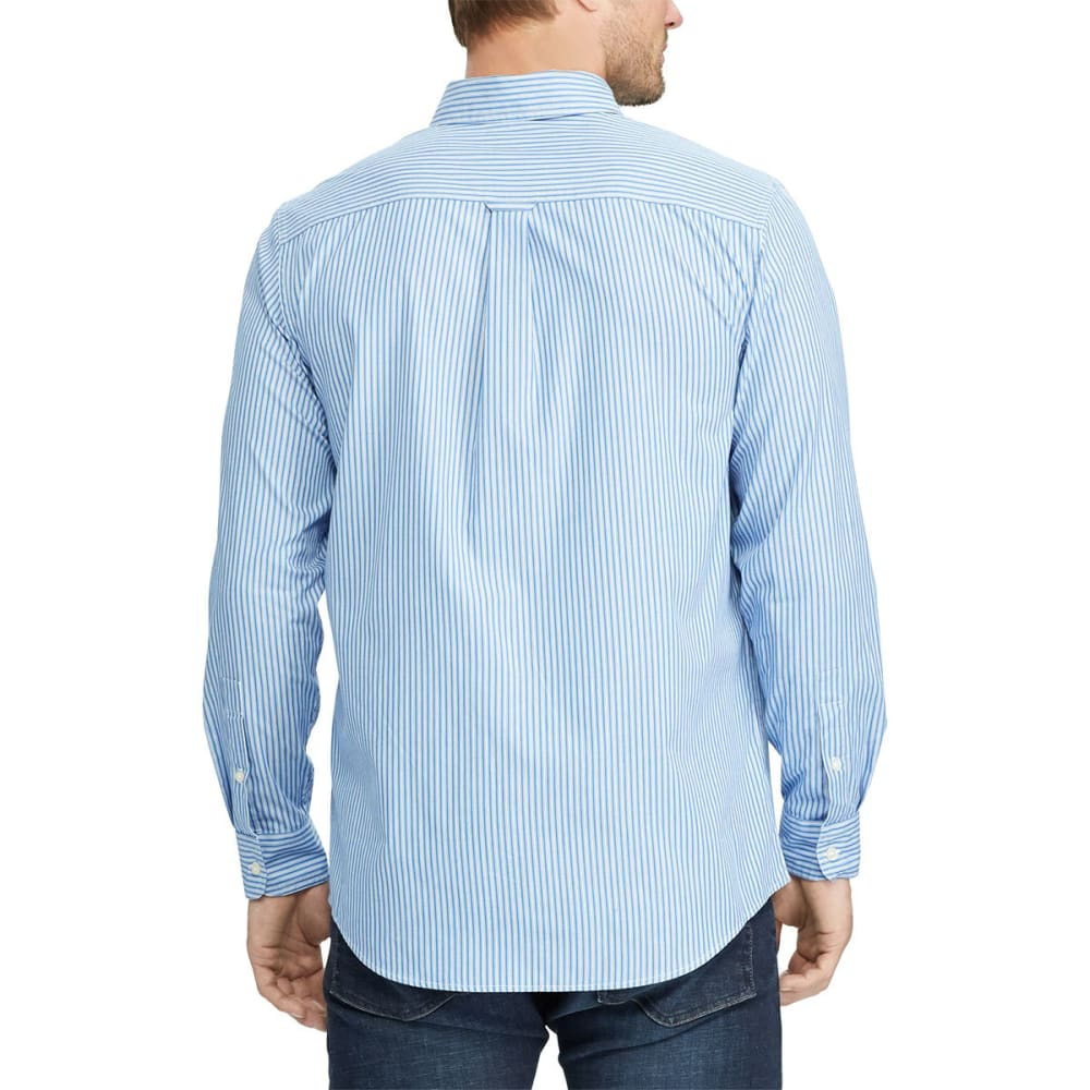 CHAPS Men's Stretch Stripe Poplin Long-Sleeve Shirt - IMPERIAL BLUE-002