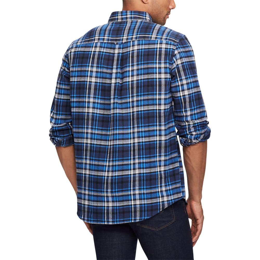 CHAPS Men's Flannel Long-Sleeve Shirt - NEWPORT NVY-001