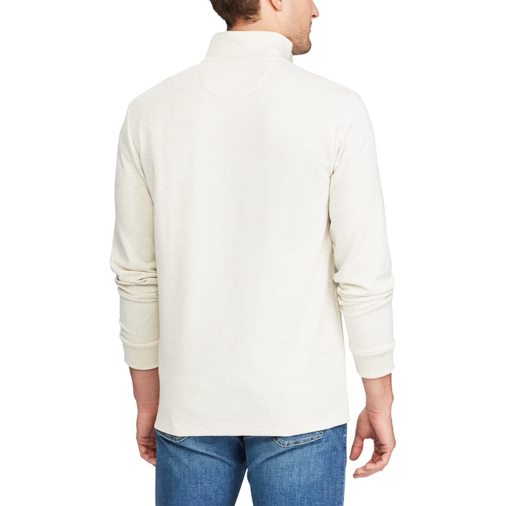 CHAPS Men's Solid ¼-Zip Long-Sleeve Pullover - OATMEAL HTR-001