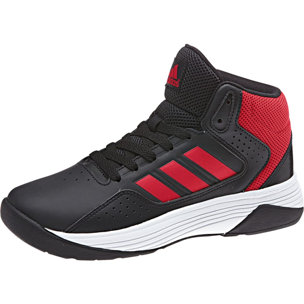Adidas Boys Cloudfoam Ilation Mid Basketball Shoes, Black/red