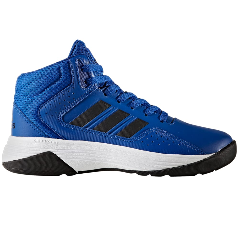 ADIDAS Boys' Cloudfoam Ilation Mid Basketball Shoes - ROYAL BLUE