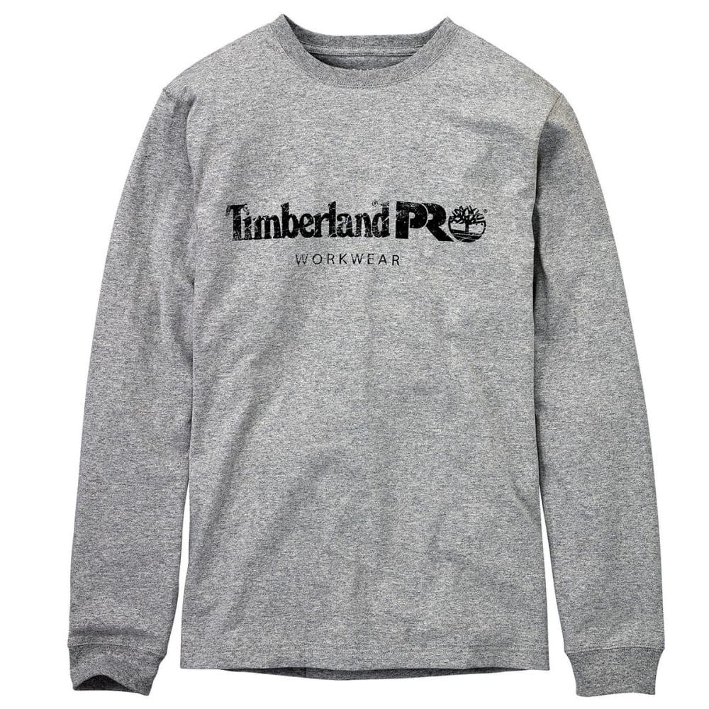 TIMBERLAND PRO Men's Cotton Core Chest Logo Long-Sleeve Shirt - C81 LIGHT GREY