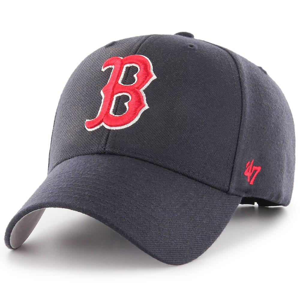 BOSTON RED SOX Men's '47 MVP Adjustable Cap, Charcoal - CHARCOAL