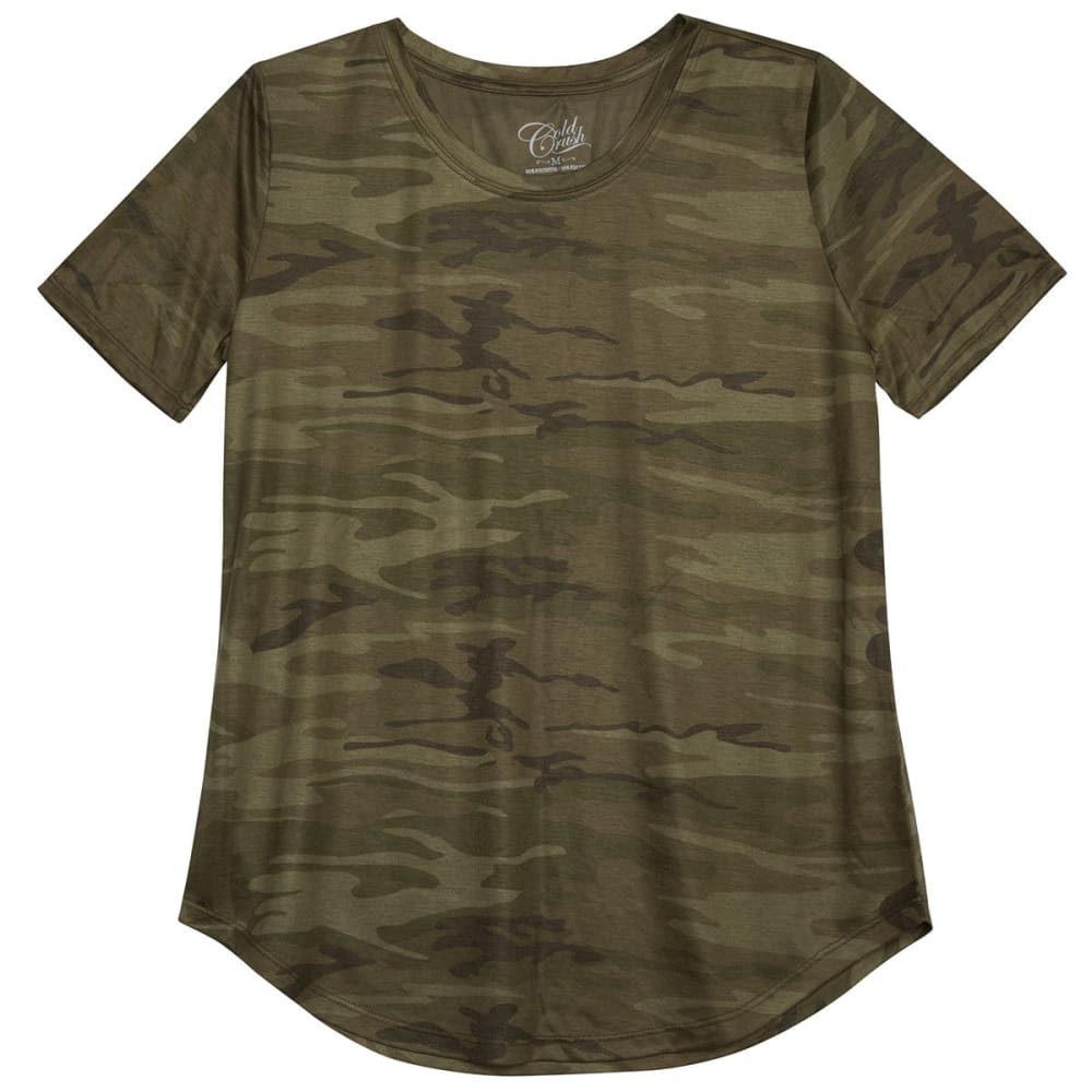 Cold Crush Juniors Camo Short-Sleeve Tee - Green, S