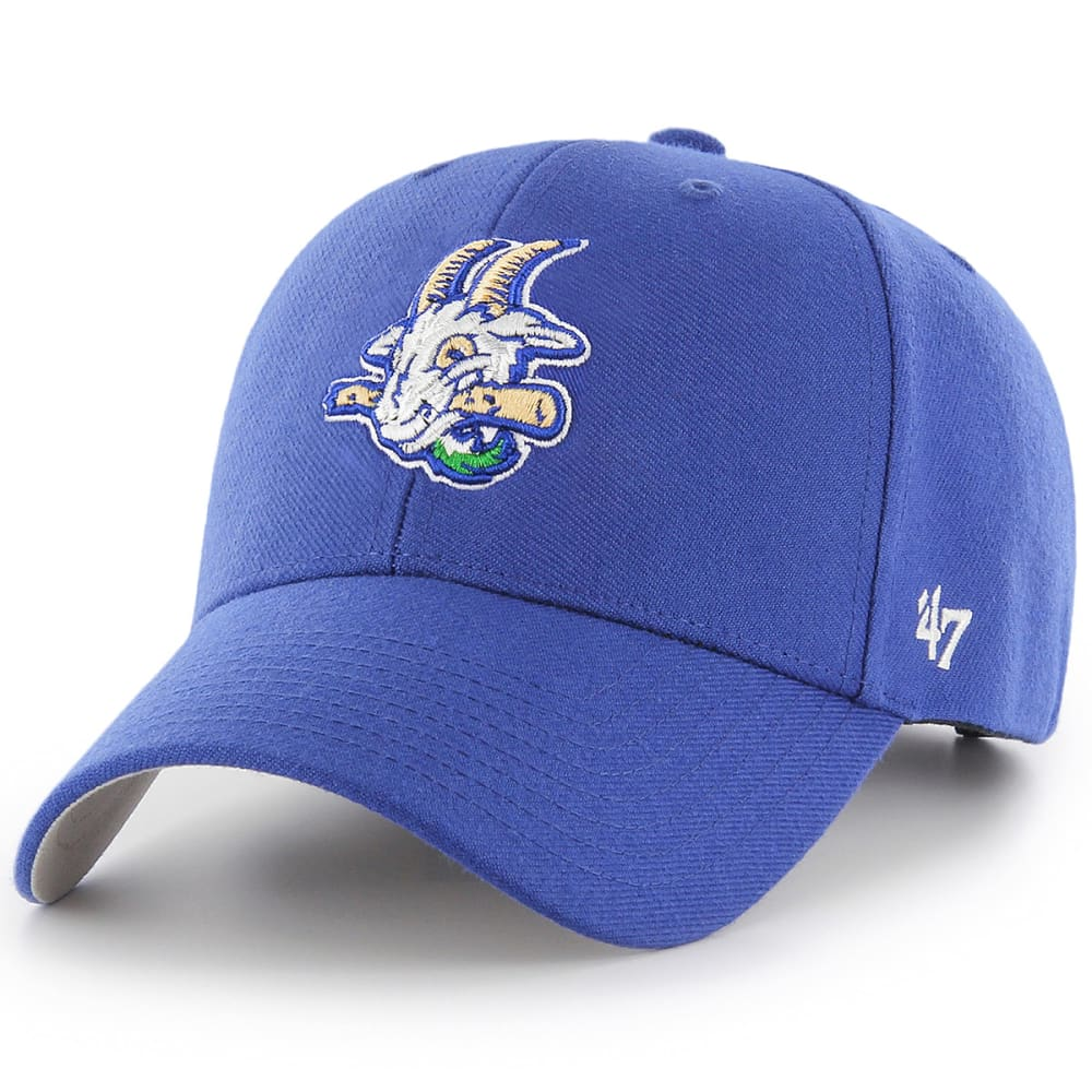 Hartford Yard Goats 47 Mvp Adjustable Hat - Blue, ONESIZE