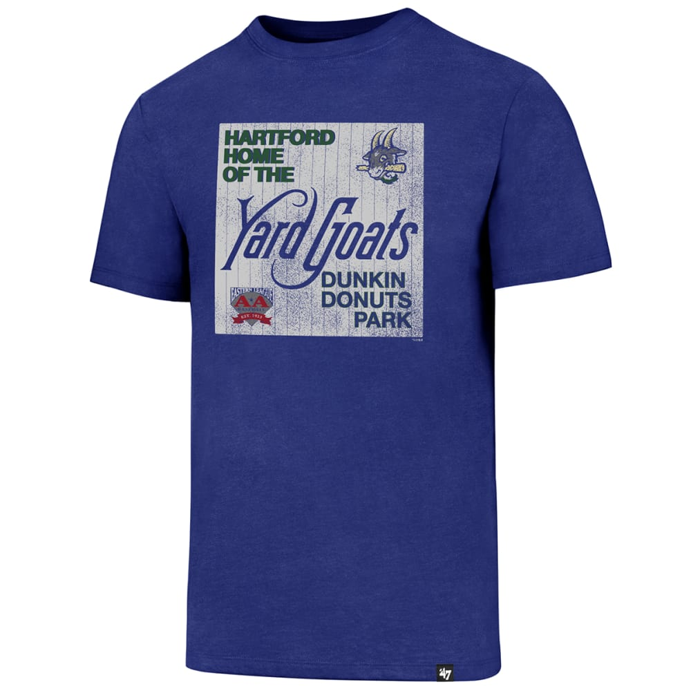 Hartford Yard Goats Men's Home Of The Yard Goats Dunkin Donuts Park Short-Sleeve Tee - Blue, M