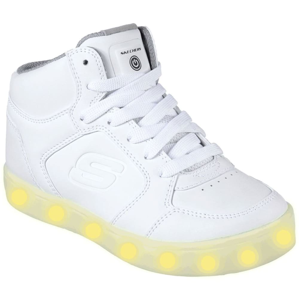 SKECHERS Boys' S Lights: Energy Lights Sneakers, White - WHITE