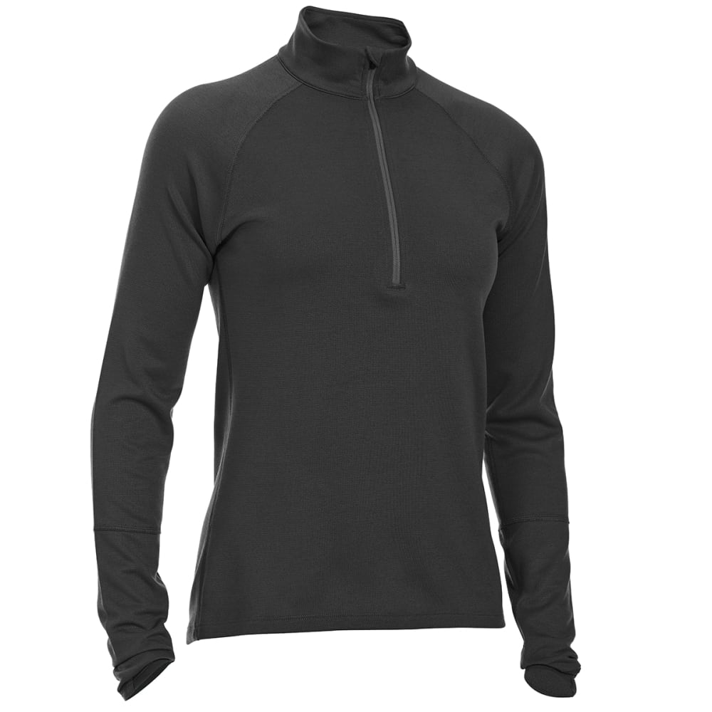 Ems(R) Women's Techwick(R) Midweight  1/4-Zip Base Layer - Black, S