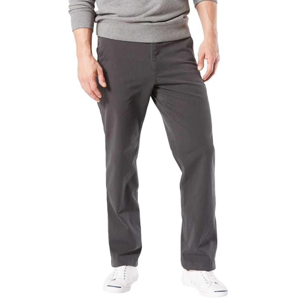DOCKERS Men's Straight Fit Downtime Smart 360 Flex Khaki Pants - STEELHEAD-0007