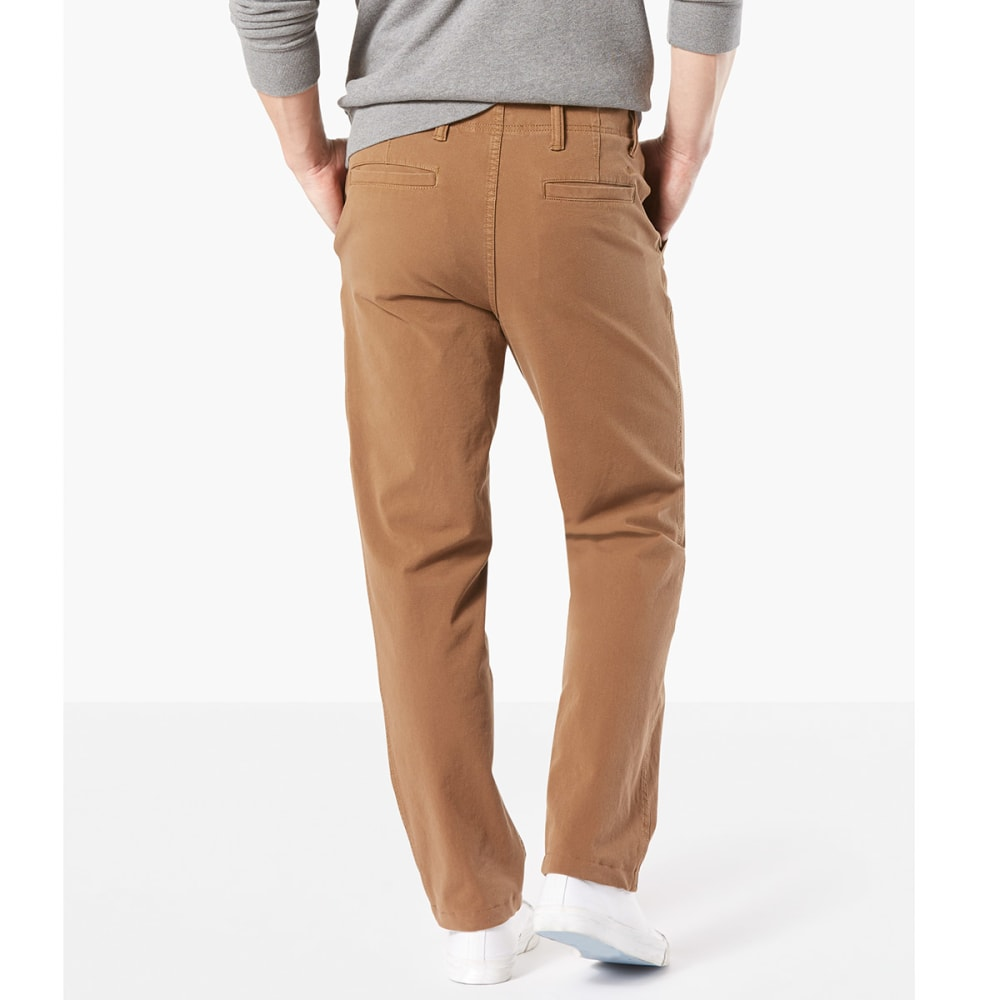 DOCKERS Men's Straight Fit Downtime Smart 360 Flex Khaki Pants - TOBACCO-0001