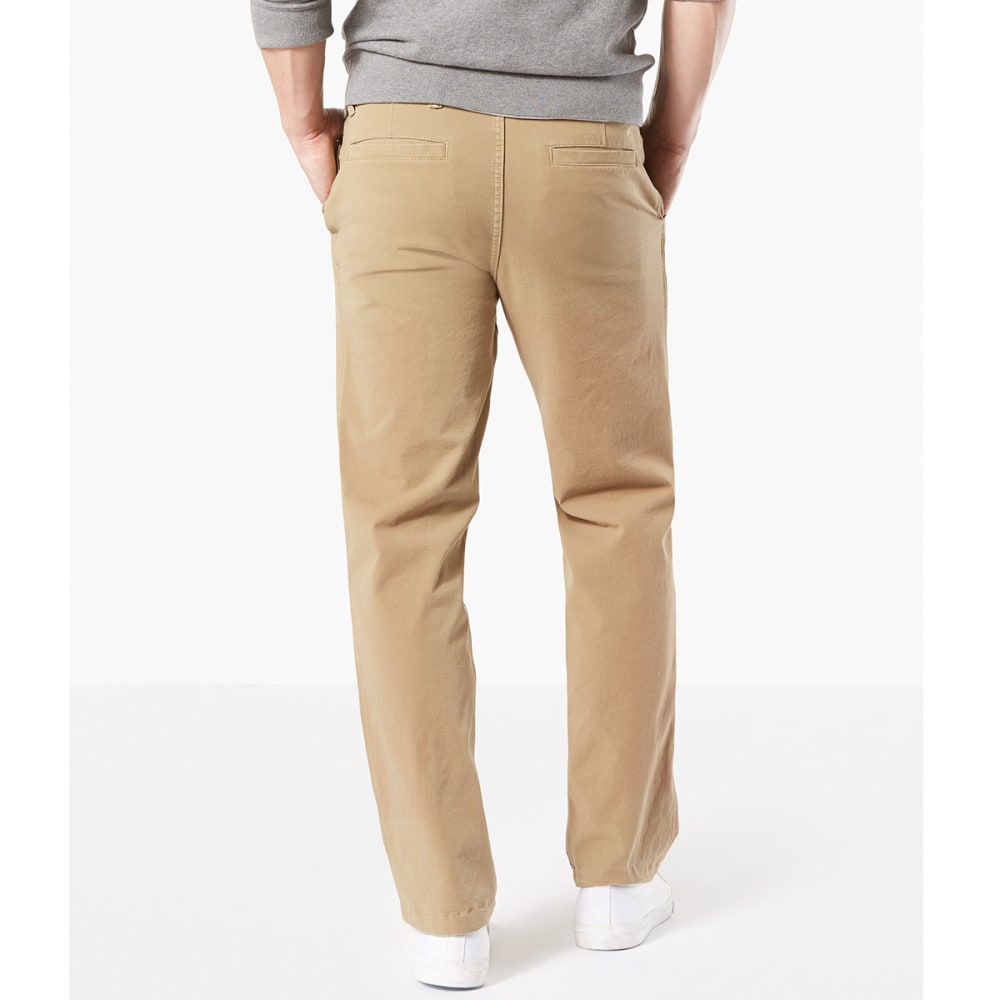DOCKERS Men's Straight Fit Downtime Smart 360 Flex Khaki Pants - N.BRIT KHA-0000