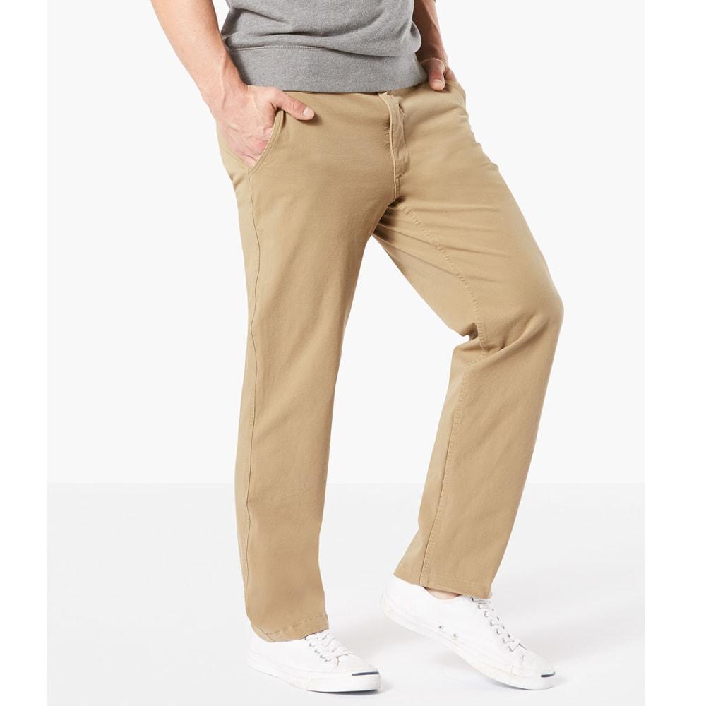 DOCKERS Men's Straight Fit Downtime Smart 360 Flex Khaki Pants - N.BRIT KHA-0000