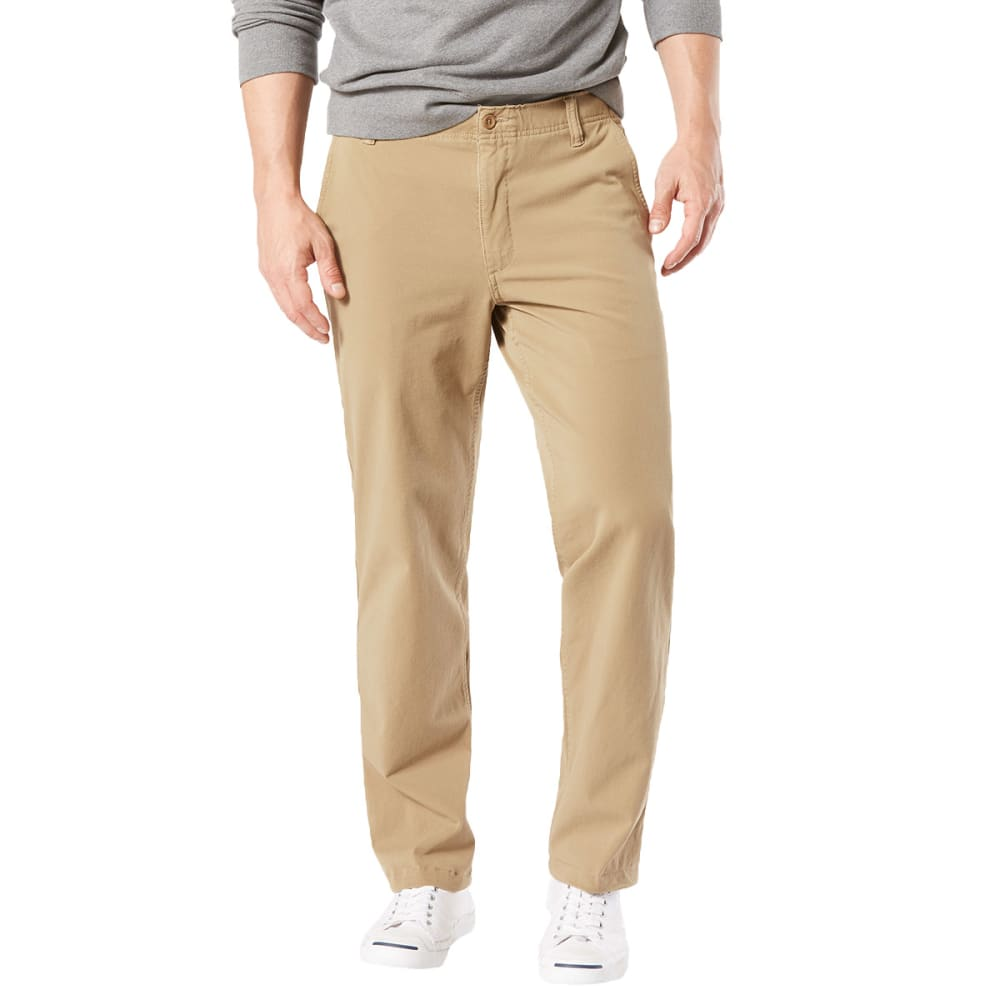 DOCKERS Men's Straight Fit Downtime Smart 360 Flex Khaki Pants 30/30