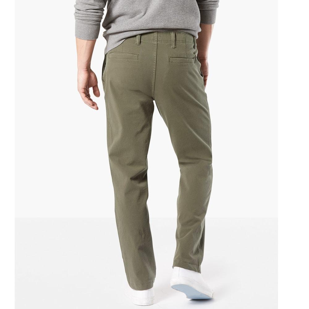 DOCKERS Men's Straight Fit Downtime Smart 360 Flex Khaki Pants - OLIVE-0002