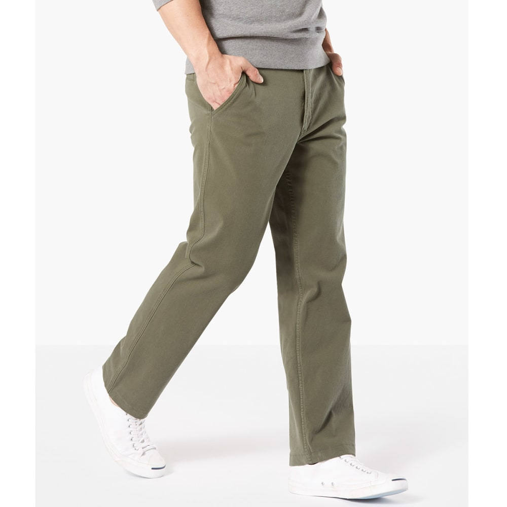 DOCKERS Men's Straight Fit Downtime Smart 360 Flex Khaki Pants - OLIVE-0002
