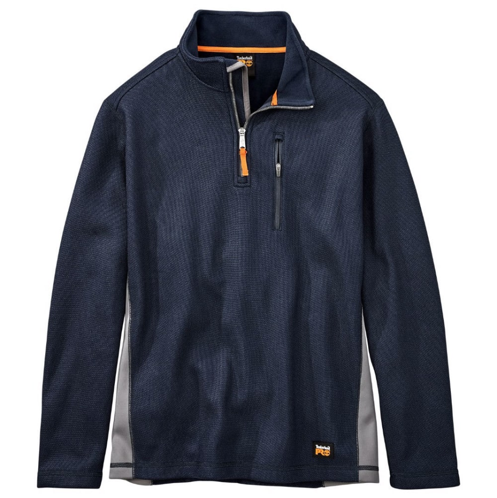 TIMBERLAND PRO Men's Studwall Textured ¼-Zip Fleece Pullover - 406 TOTAL ECLIPSE