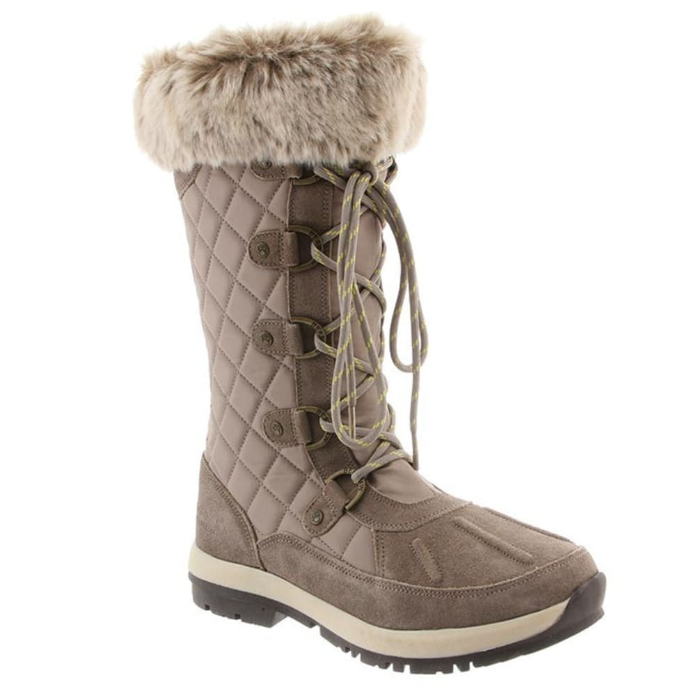 BEARPAW Women's Quinevere Boots, Stone - STONE