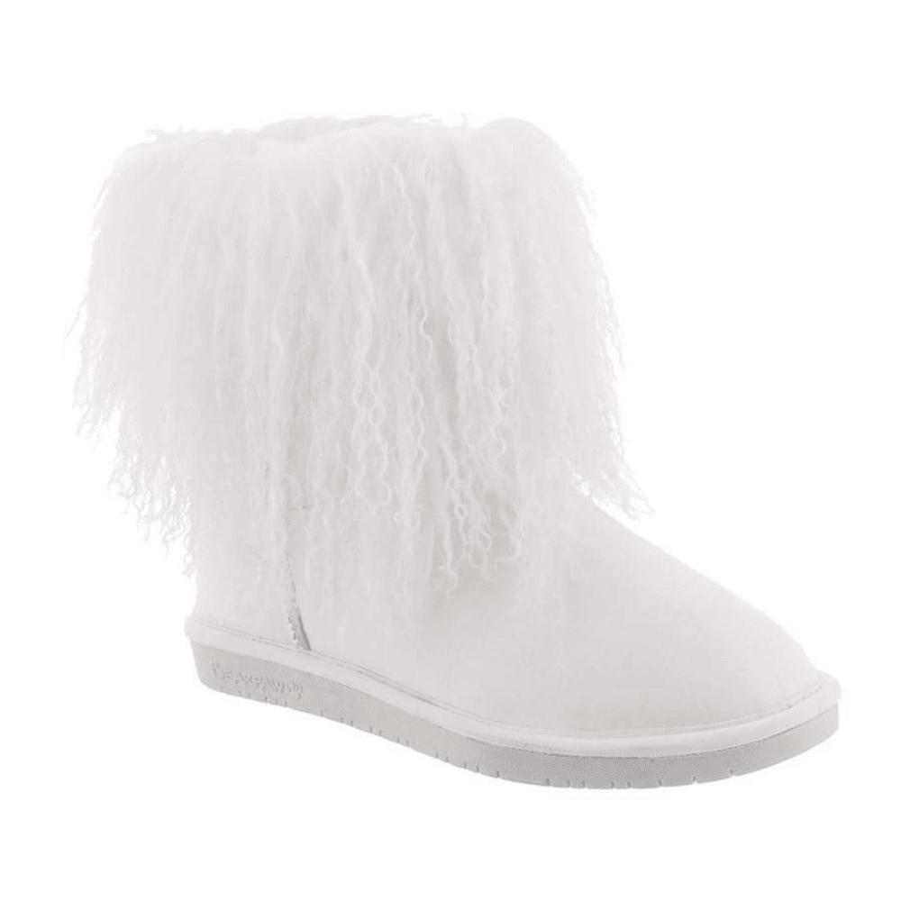 BEARPAW Women's Boo Boots, White 5