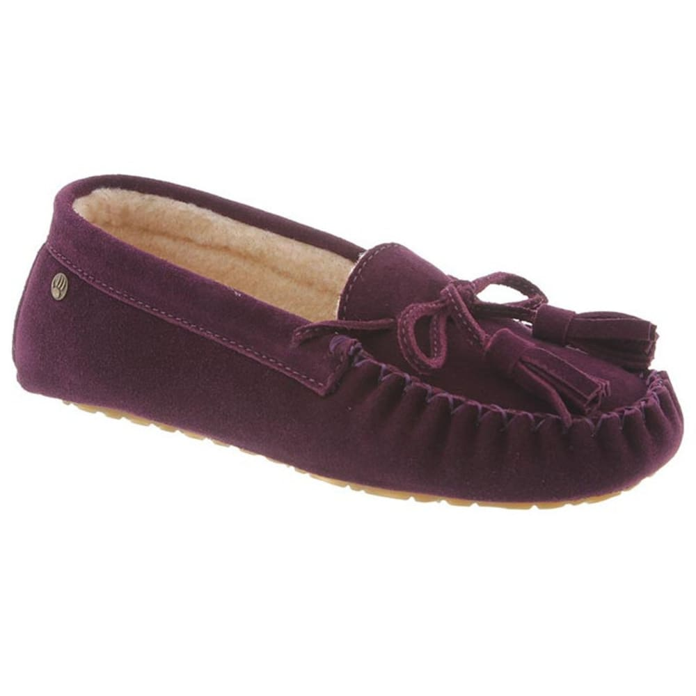 BEARPAW Women's Rosalina Slippers, Plum - PLUM