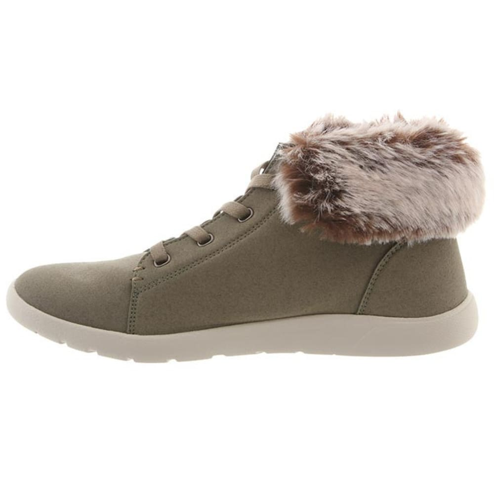BEARPAW Women's Frankie Shoes, Olive - OLIVE