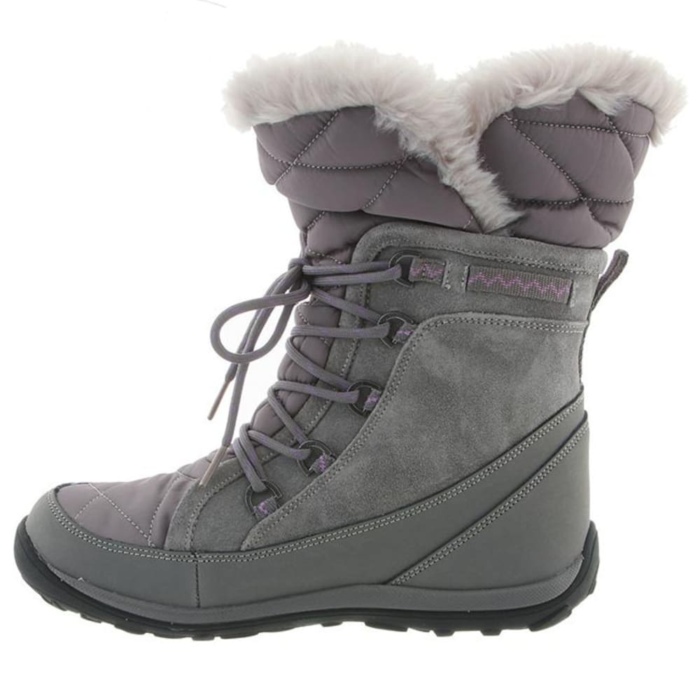BEARPAW Women's Whitney Boots, Gray II - GRAY II