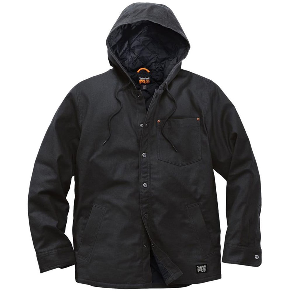 TIMBERLAND PRO Men's Gridflex Insulated Hooded Shirt Jacket - 015 BLACK