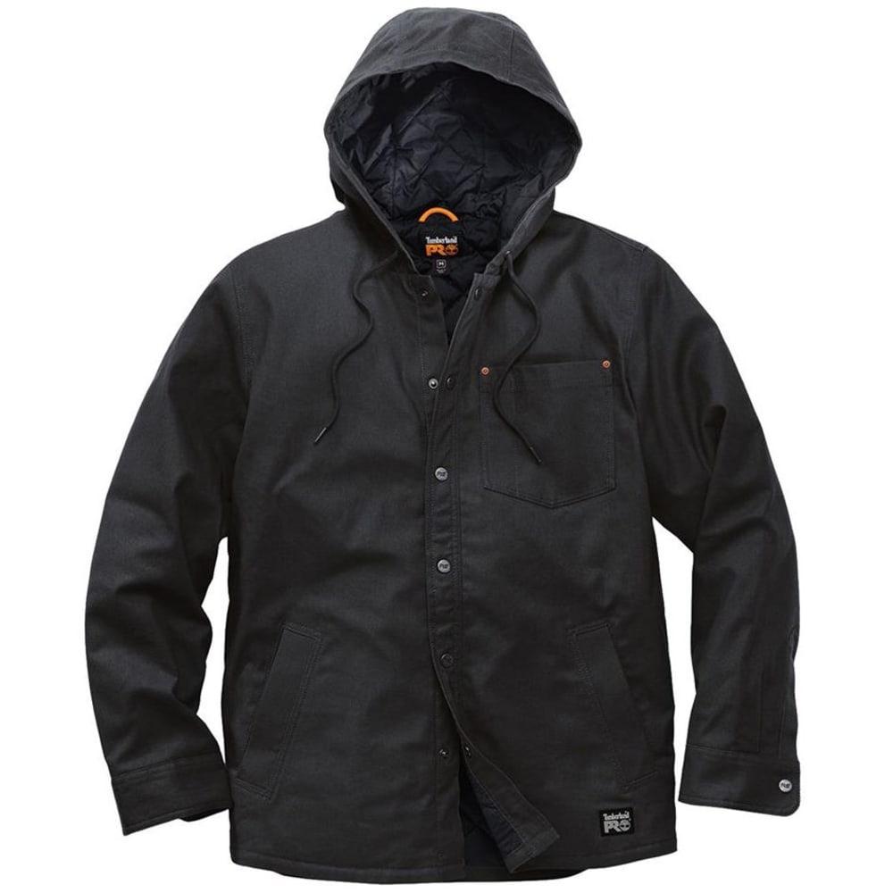 TIMBERLAND PRO Men's Gridflex Insulated Hooded Shirt Jacket - 015 BLACK