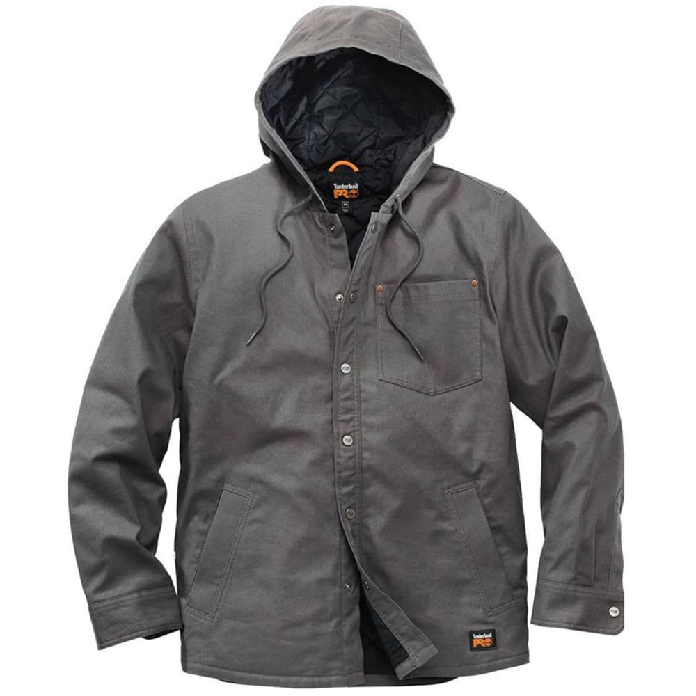 TIMBERLAND PRO Men's Gridflex Insulated Hooded Shirt Jacket - 060 PEWTER