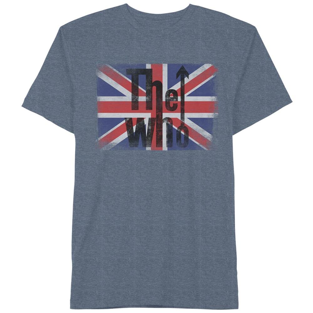 HYBRID Guys' The Who Flag Short-Sleeve Tee - NAVY HTR