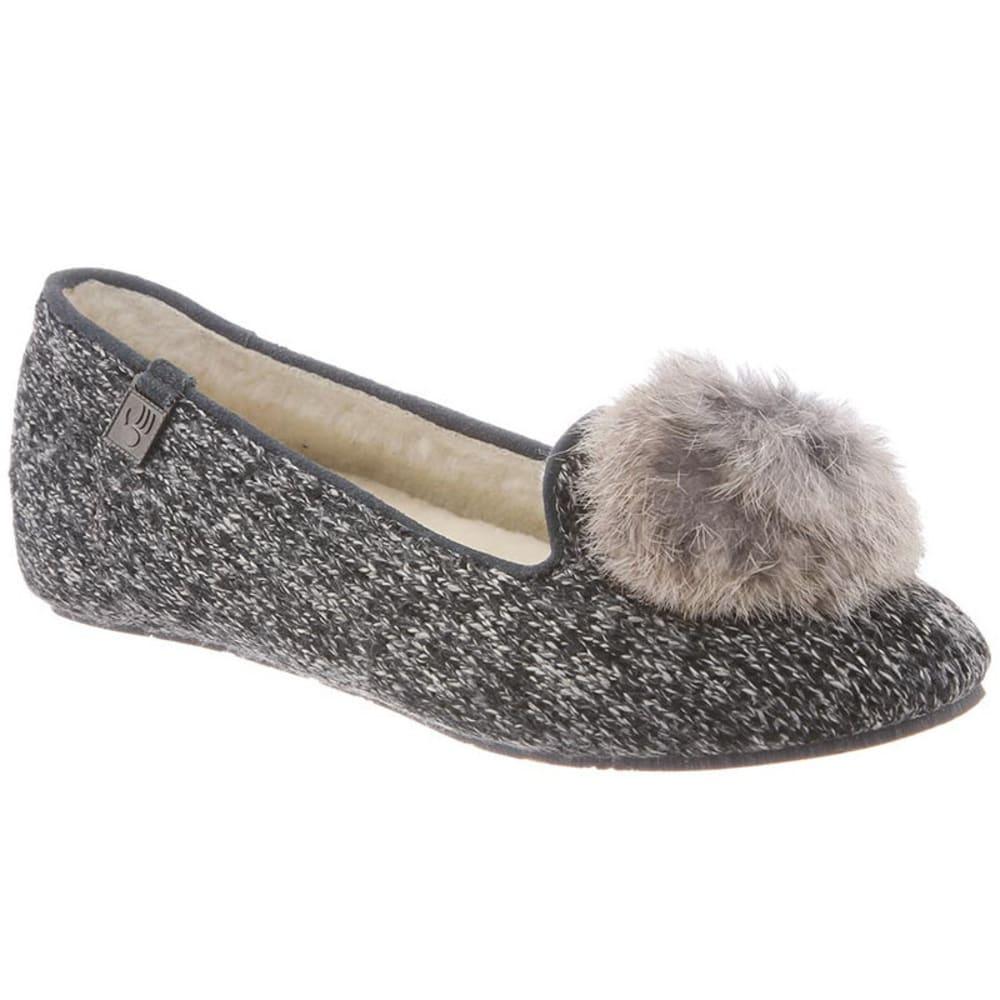 BEARPAW Women's Shae Shoes, Black/Grey - BLACK/GREY