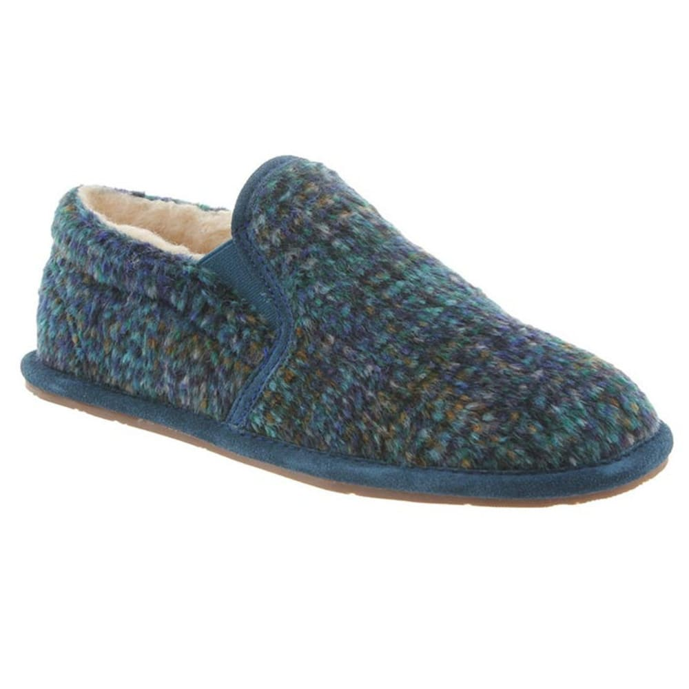 BEARPAW Women's Alana Slippers, Slate Blue - SLATE BLUE