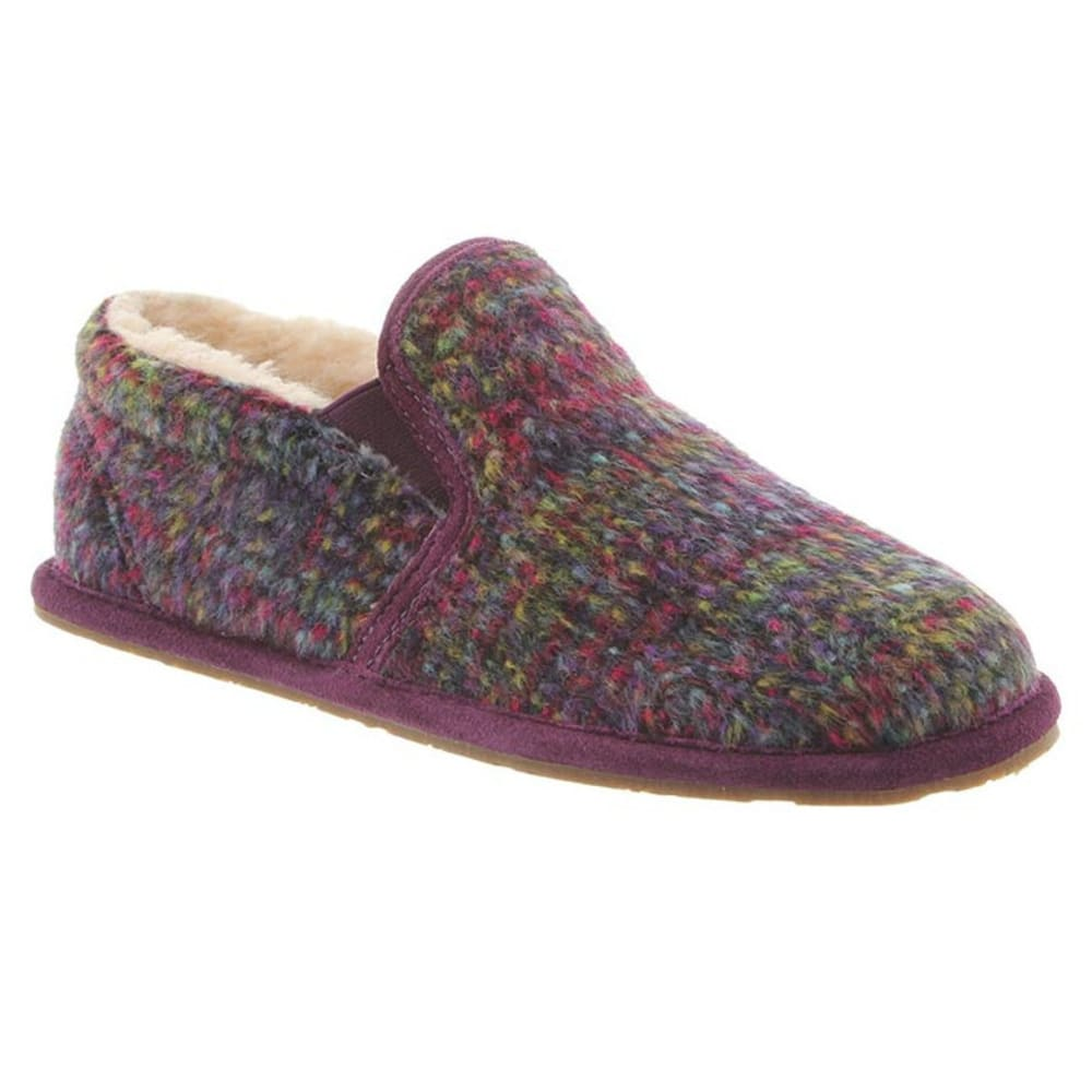 BEARPAW Women's Alana Slippers, Plum - PLUM