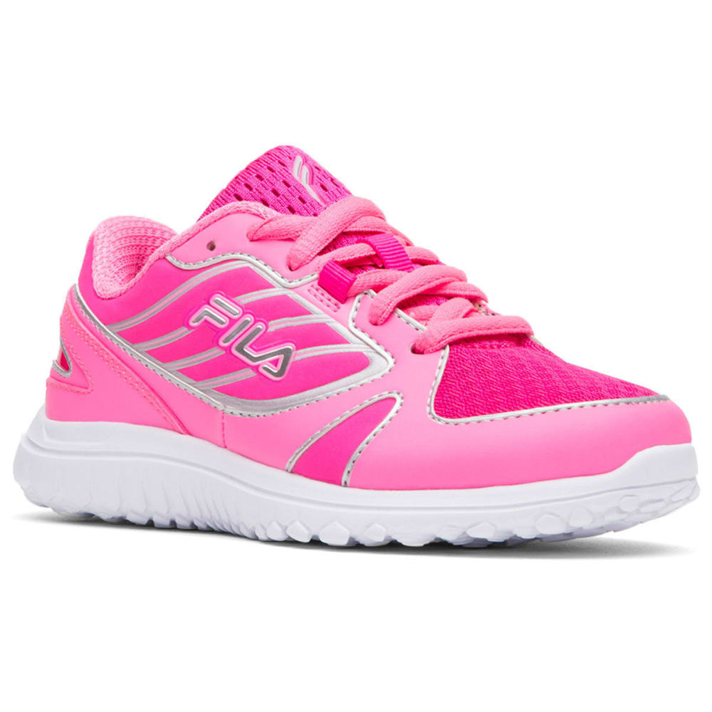 FILA Girls' Boomers Running Shoes, Pink/White - PINK/WHITE