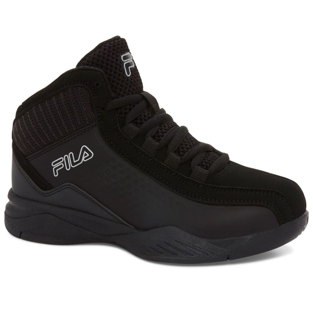 FILA Boys' Entrapment 3 Basketball Shoes, Black - BLACK