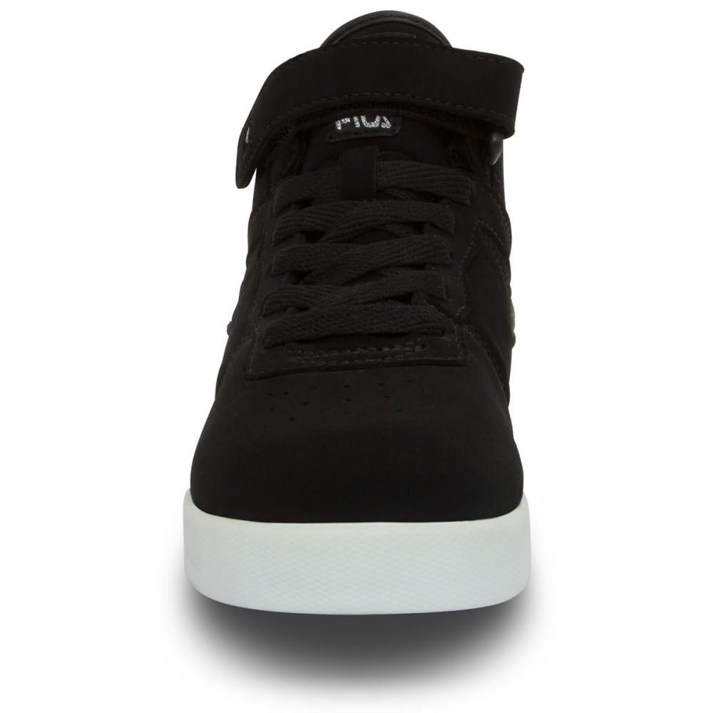 FILA Boys' Vulc 13 Basketball Shoes, Black/White - BLACK/WHT