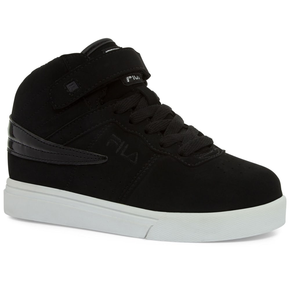 FILA Boys' Vulc 13 Basketball Shoes, Black/White - BLACK/WHT