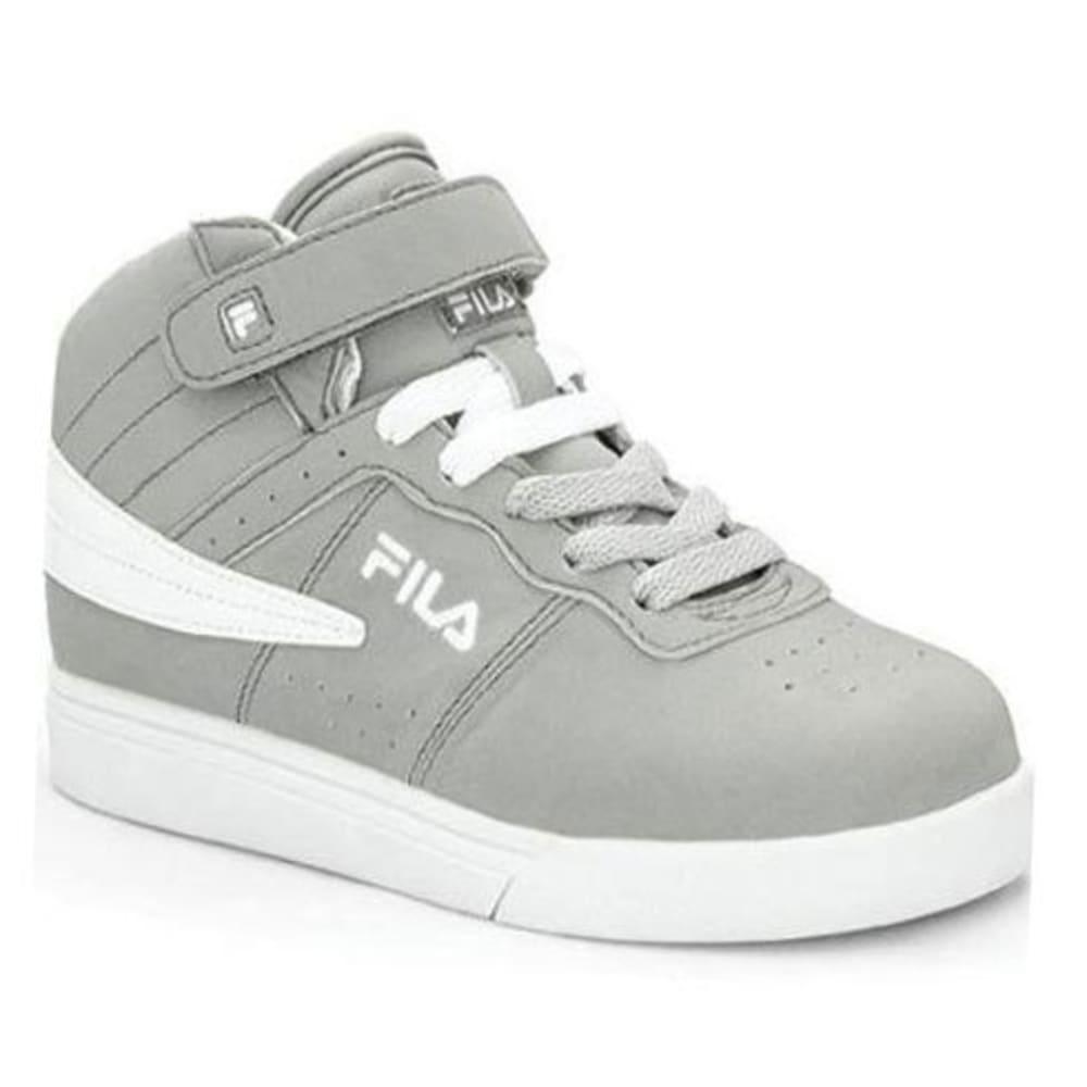 FILA Boys' Vulc 13 Basketball Shoes, Heather Grey/White - GREY/WHT