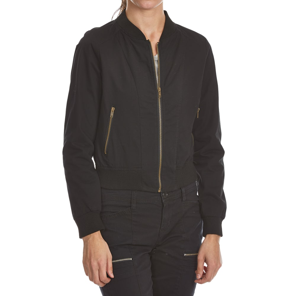Ambiance Apparel Juniors Structured Bomber Jacket