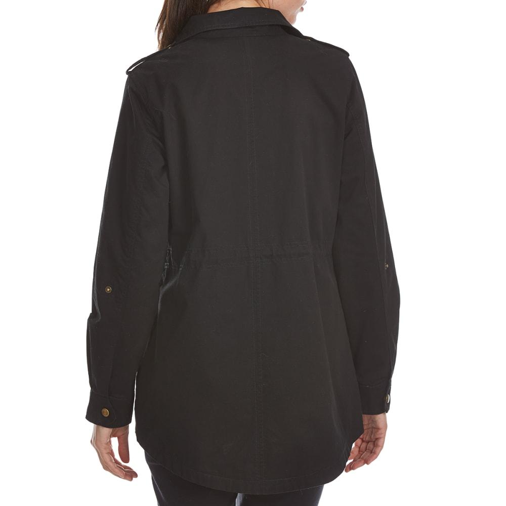 AMBIANCE Juniors' Anorak Jacket - BLACK