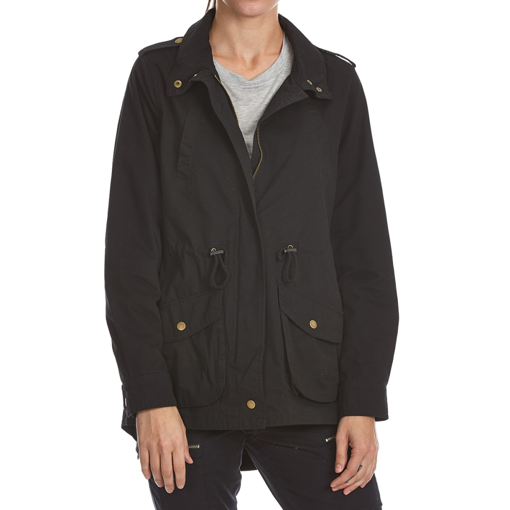 AMBIANCE Juniors' Anorak Jacket - BLACK