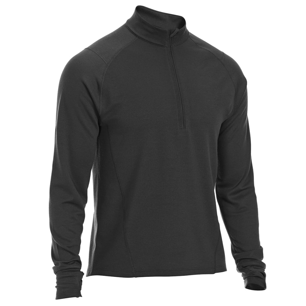 Ems(R) Men's Techwick(R) Midweight  1/4-Zip Base Layer - Black, M