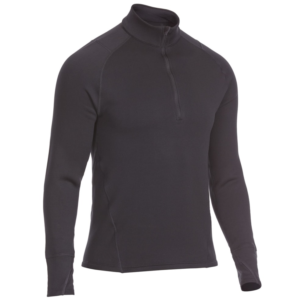 Ems(R) Men's Techwick(R) Heavyweight  1/4-Zip Base Layer Top - Black, S