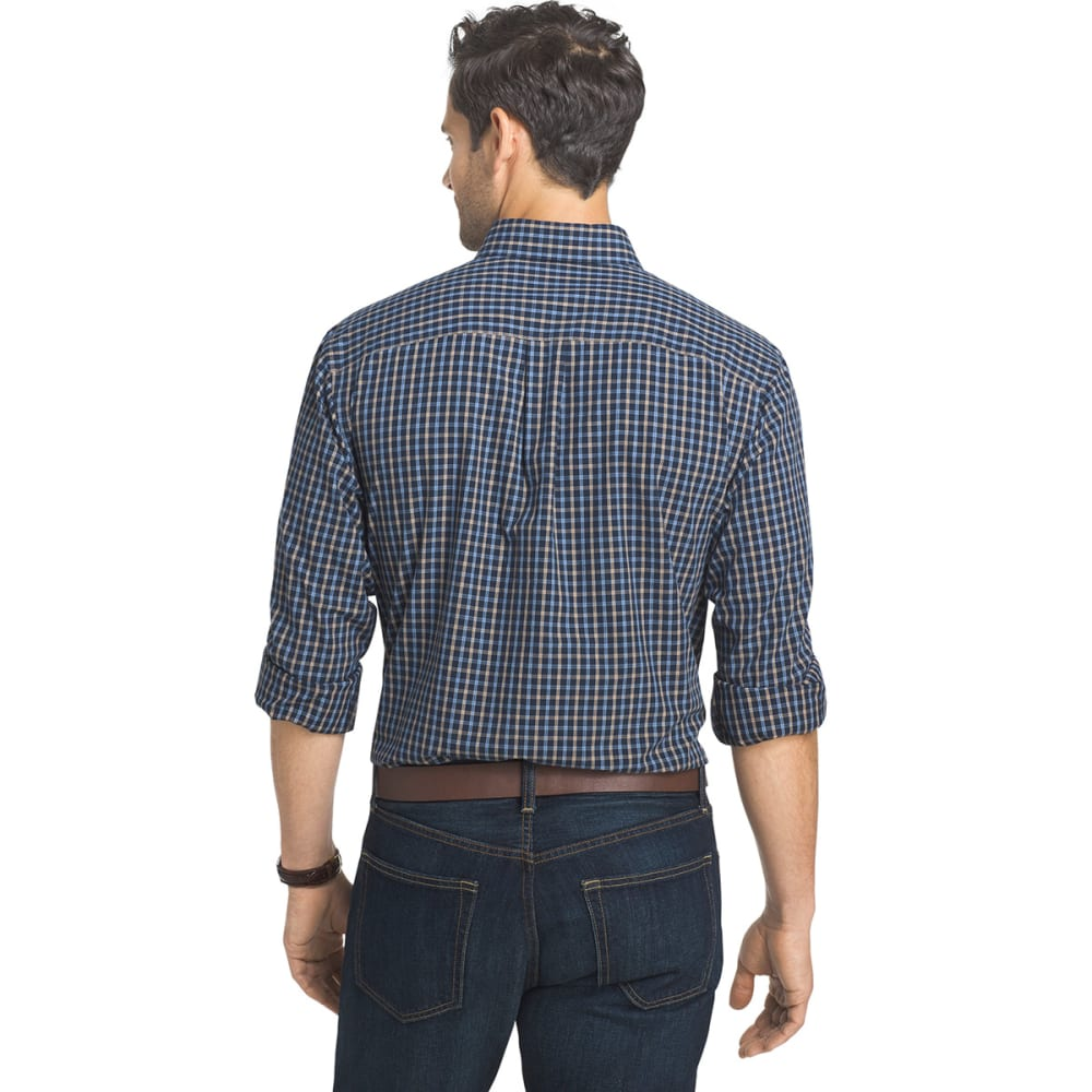 ARROW Men's Hamilton Plaid Long-Sleeve Woven Shirt - TOTAL ECLIPSE-488
