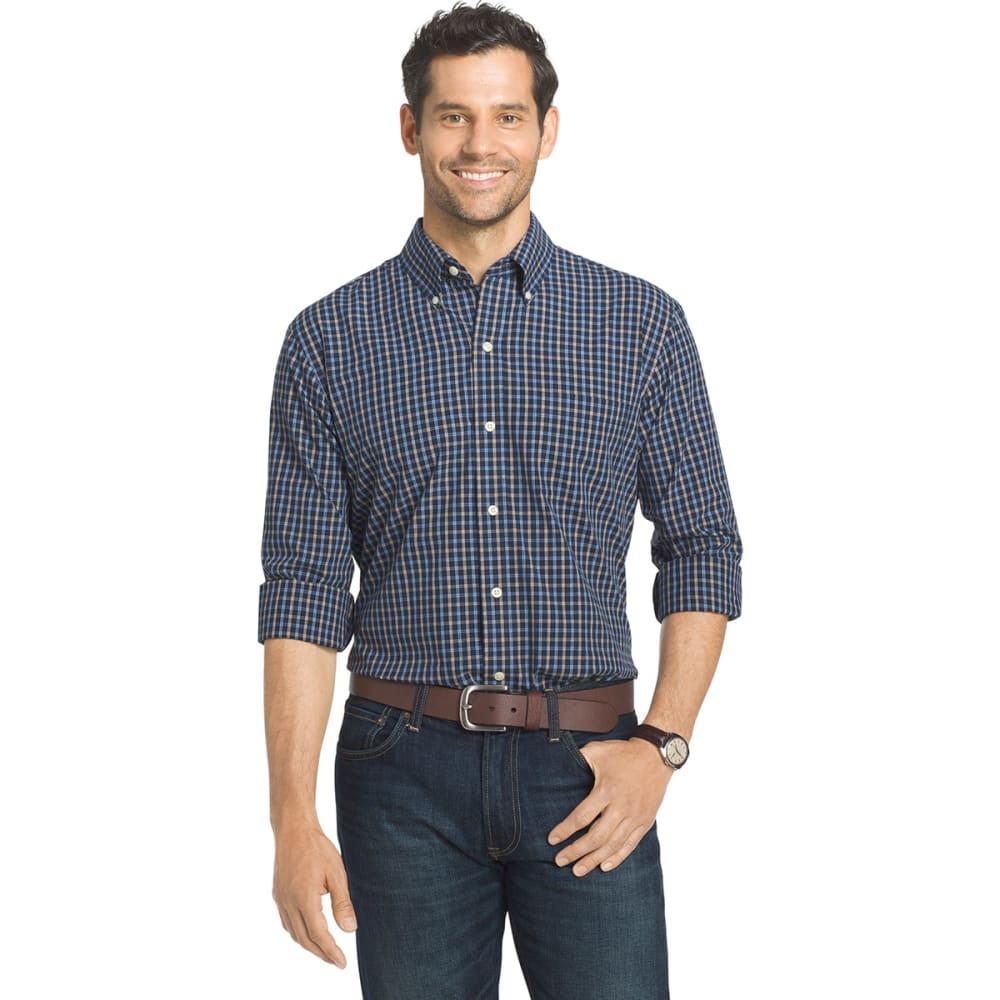 Arrow Men's Hamilton Plaid Long-Sleeve Woven Shirt - Blue, M